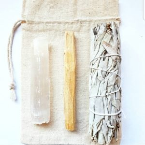 Smudge Bundle with Selenite