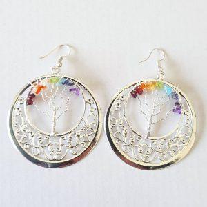 Chakra Gem Earrings Circle